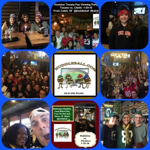 2016 NFL Playoffs Wildcard Round- Game Watch Party's At Cabin, SF & The Red Jack Saloon, SF